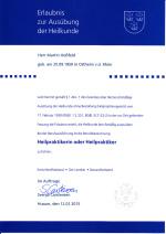 Erlaubnis Heilpraktiker Martin Hossfeld Kreis Nordfriesland
