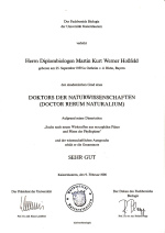 Promotionsurkunde Dr Martin Hossfeld