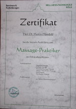 zertifikat Massage-Praktiker Martin Hossfeld
