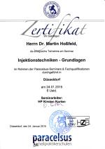 injektionetechniken zertifikat