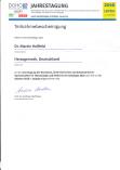 Jahrestagung der DGHO in Leipzig Teilnahmebestätigung Martin Hoßfeld