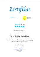 Zertifikat PRP-Behandlung Vampirlifting  Draculatherapie Microneedling Heilpraktiker Dr. Martin Hoßfeld Aachen Herzogenrath