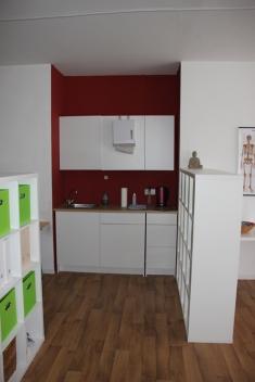 Teeküche Eingangsbereich Praxis für Heilpraktik HP Dr. Martin Hoßfeld Aachen Herzogenrath