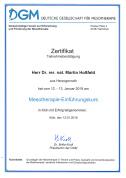 Zertifikat Mesotherapie DGM HP Dr Martin Hoßfeld