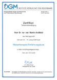 Fortbildung Mesotherapie DGM Februar 2019